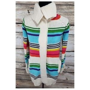 gap sweater colorful button up